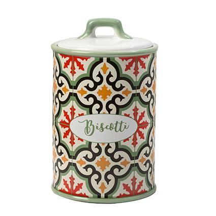 Barattolo Cefalù biscotti ceramica colorata