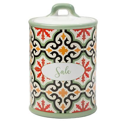 Barattolo Cefalù sale ceramica colorata