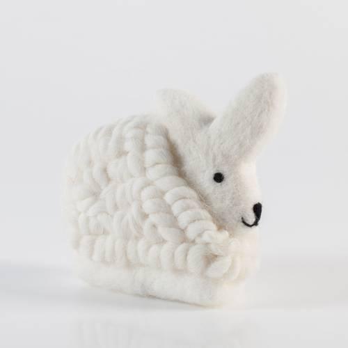 Coniglio lana bianco