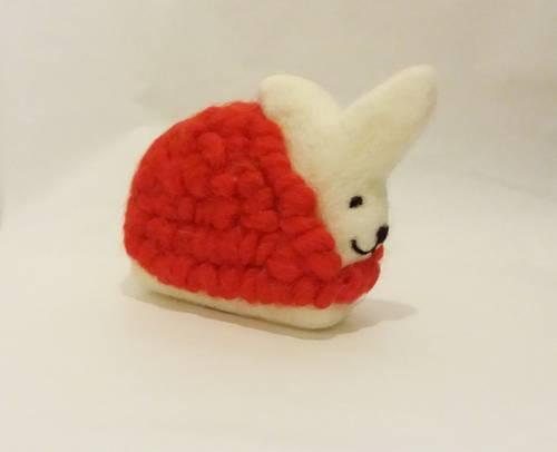 Coniglio lana rosso