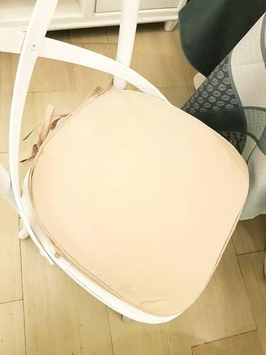 Cuscino per sedia sagomato ecru