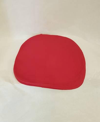 Cuscino per sedia sagomato rosso