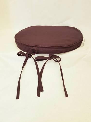Cuscino per sedia sagomato viola prugna