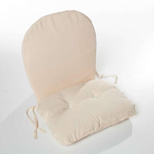 Cuscino schienale basso ecrù seduta imbottita per poltroncina