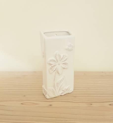 Umidificatore ceramica bianco decoro fiore ape