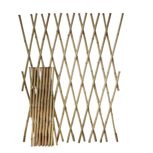 Graticcio bamboo estensibile per rampicanti e coperture