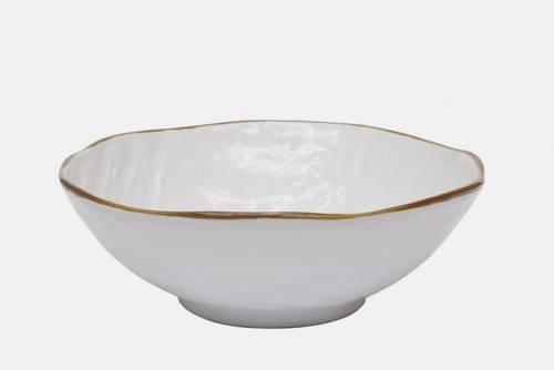 Insalatiera bianca porcellana collezione mediterraneo
