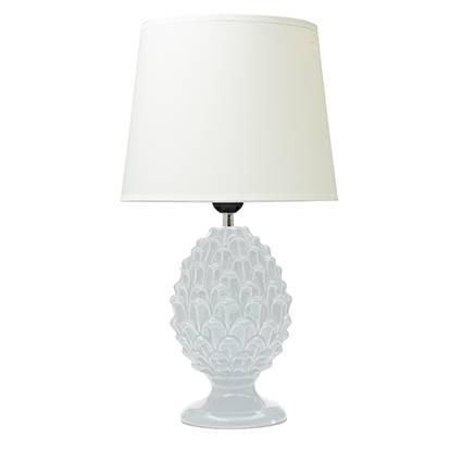 Lampada ceramica pigna bianca 45h