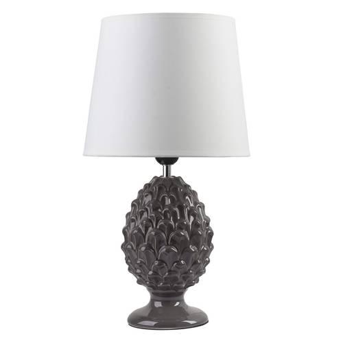Lampada ceramica pigna grigia 45h