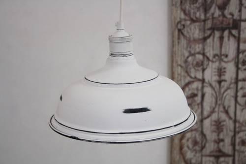 Lampadario campana bianca
