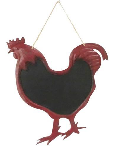 Lavagna ferro rosso sagoma gallo