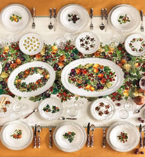 Vassoio ovale frutti Le Primizie porcellana cm50