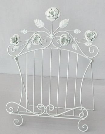 Leggio ferro bianco decoro fiori