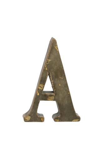 Lettera metallo A bronzo