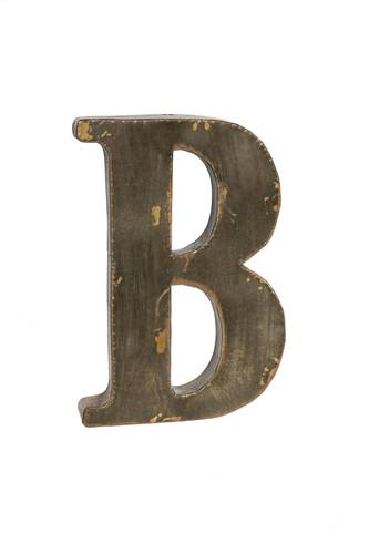 Lettera metallo B bronzo