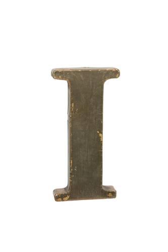 Lettera metallo I bronzo