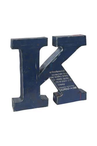 Lettera metallo K vintage colorata