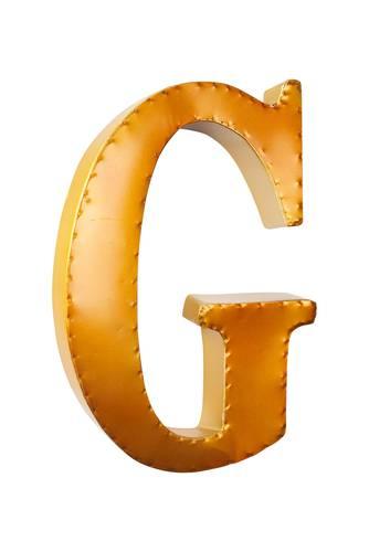 Lettera metallo G giallo oro