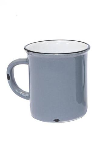Mug smaltata grigio  h9