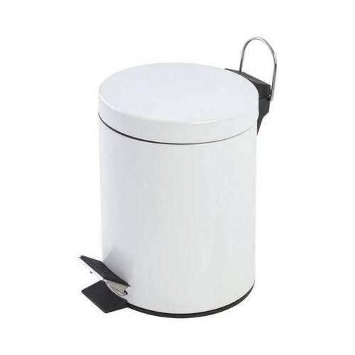 Bidone bianco soft con pedale 5L