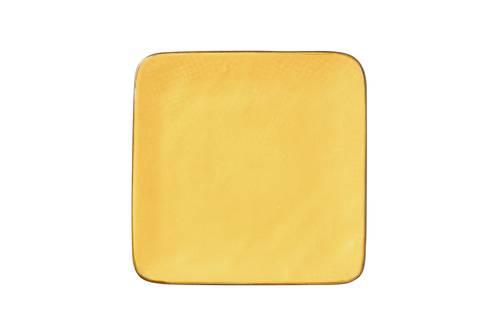 Piattino quadrato giallo porcellana collezione mediterraneo