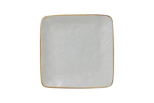 Piattino quadrato grigio fango porcellana collezione mediterraneo