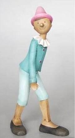 Pinocchio azzurro in movimento