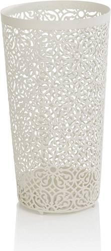 Portaombrelli tarforo fiori ferro bianco tondo 50h