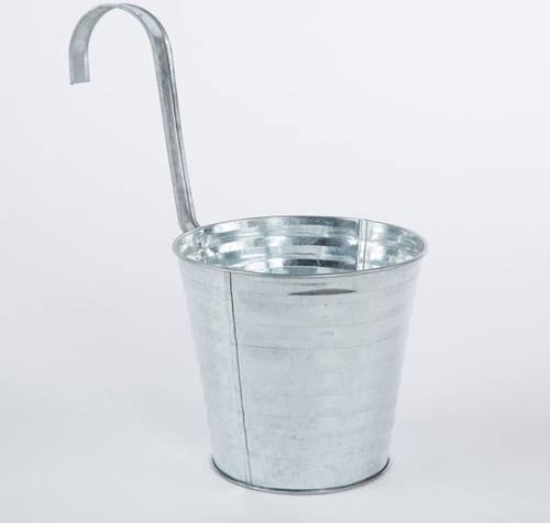 Portavaso latta zincata con gancio cm16