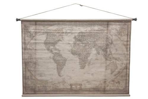 Quadro arazzo mappa continenti