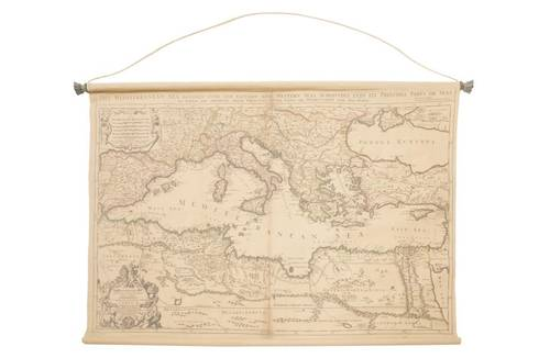 Quadro arazzo tela mappa mediterraneo