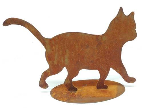Sagoma gattino ferro ruggine da giardino 20h