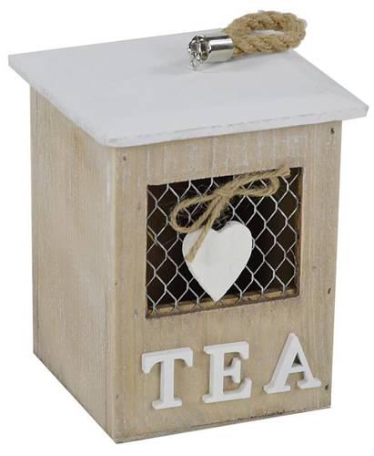 Scatola porta bustine tea con rete e cuore
