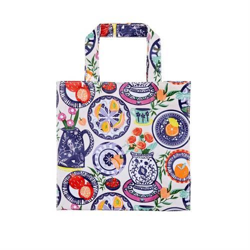Shopping bag fiori Mediterranean plates pvc small Ulster Weavers