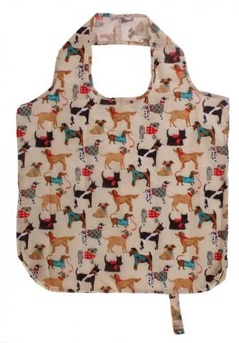 Shopping bag pieghevole cani