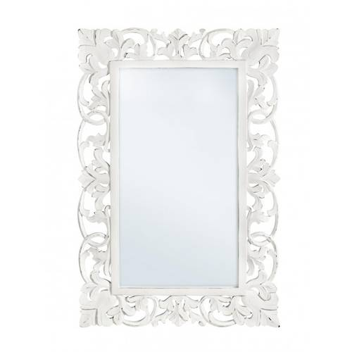 Specchio intarsi legno bianco 60x90
