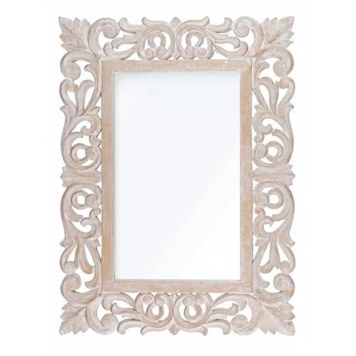 Specchio intarsi legno natural 45x60
