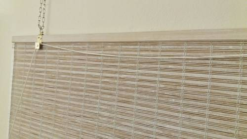 Tenda bambu' bianco decapé avvolgibile