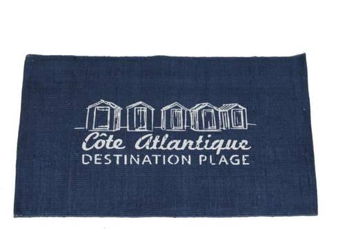 Tappeto atlantique cotone blu 60x90