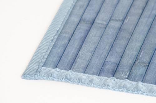 Tappeto bamboo blu
