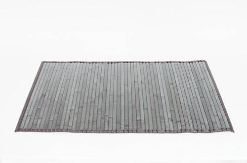 Tappeto bamboo grigio