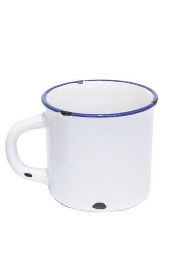 Tazzina caffè smaltata bianca