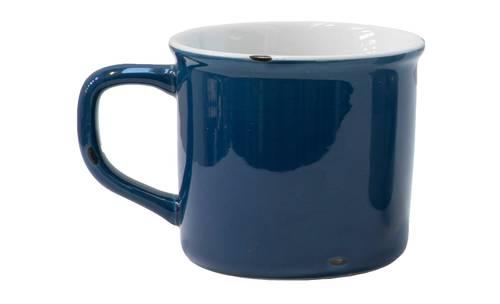Tazzina caffè smaltata blu
