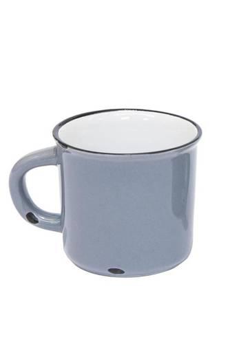Tazzina caffè smaltata grigia