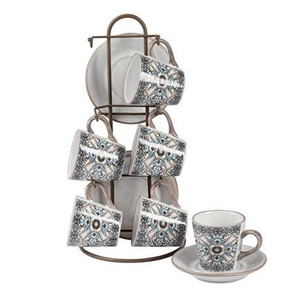 Tazzine caffè Noto ceramica 6pz con supporto