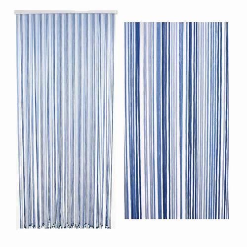 Tenda da porta corda azzurro melange 140x240h
