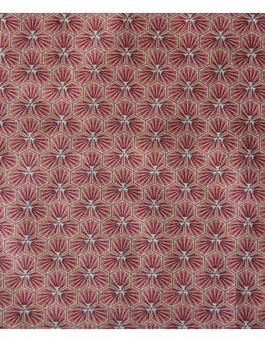 Tovaglia plastificata rosa corallo disegno riad