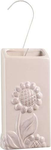 Umidificatore ceramica bianco decoro girasole